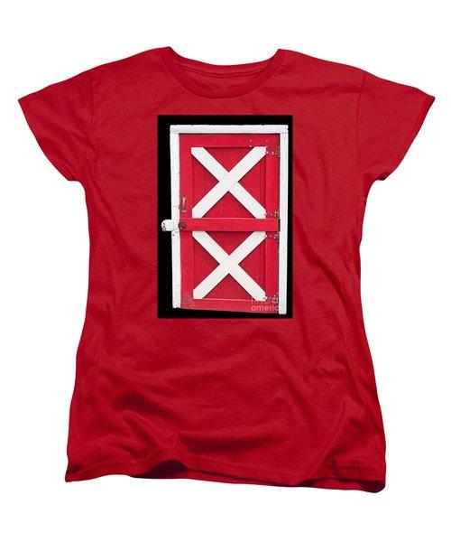 Women's T-Shirt (Standard Cut) featuring the photograph Barn Door by Gunter Nezhoda