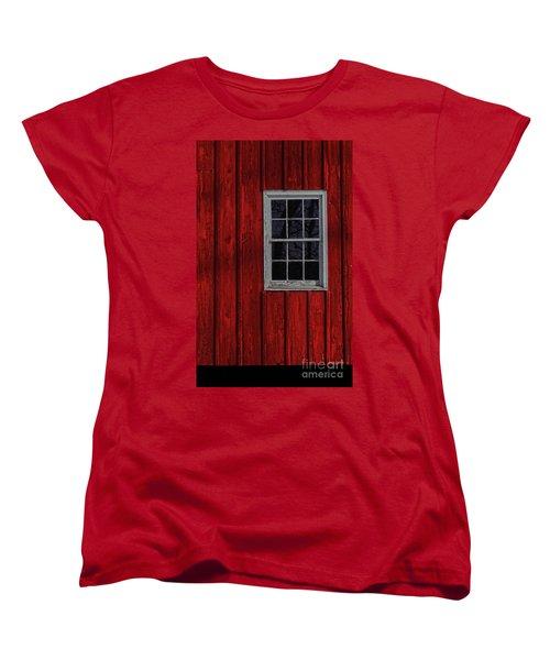 Women's T-Shirt (Standard Cut) featuring the photograph Barn Window by Debra Fedchin