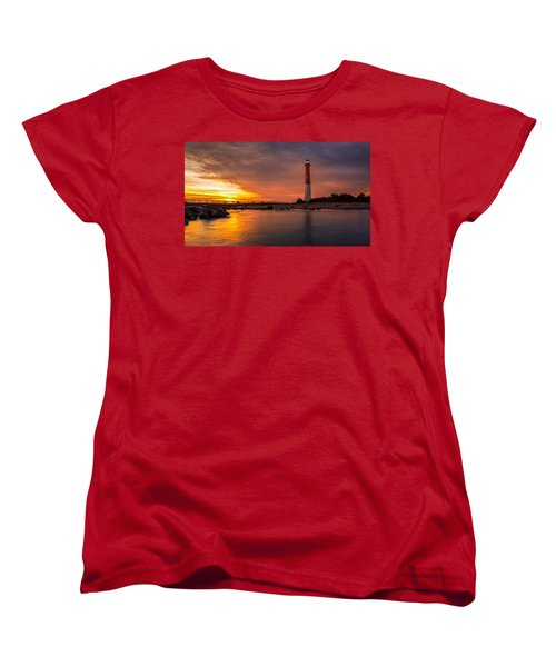 Barnegat Sunset Light Women's T-Shirt (Standard Cut) by Mihai Andritoiu