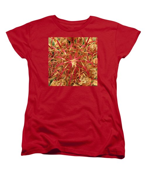 Women's T-Shirt (Standard Cut) featuring the photograph Barrel Cactus by Laurel Powell