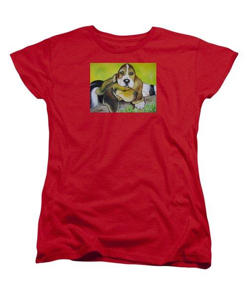 Bassett Hound Pups Women's T-Shirt (Standard Cut)