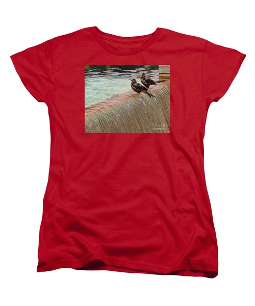 Women's T-Shirt (Standard Cut) featuring the photograph Bath Time At The Adolphus by Robert ONeil
