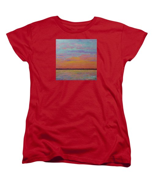 Bay Sunset Women's T-Shirt (Standard Cut) by Gail Kent