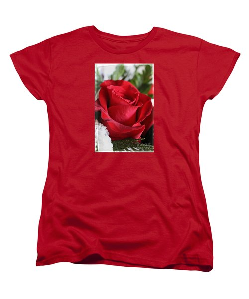 Be Inspired With Flowers And Art Women's T-Shirt (Standard Cut) by Ella Kaye Dickey