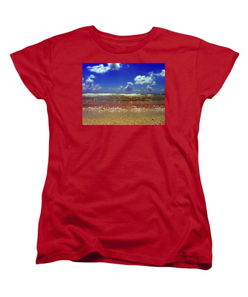 Women's T-Shirt (Standard Cut) featuring the photograph Beach by J Anthony