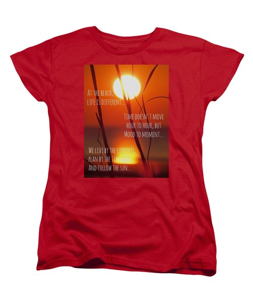 Women's T-Shirt (Standard Cut) featuring the photograph Beach Quote by Nikki McInnes