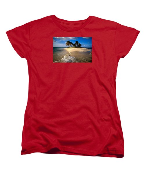 Women's T-Shirt (Standard Cut) featuring the painting Beautiful Island by Bruce Nutting