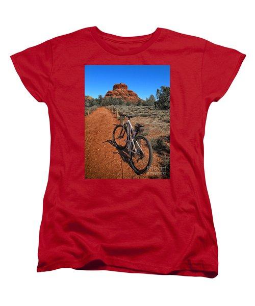 Bell Rock Trail Women's T-Shirt (Standard Cut) by Jason Abando