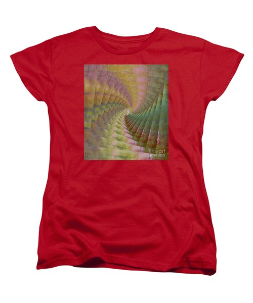 Women's T-Shirt (Standard Cut) featuring the mixed media Between Heaven And Earth by PainterArtist FIN