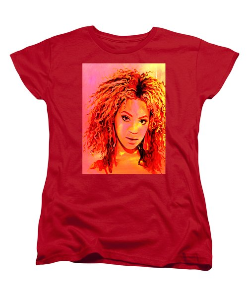 Women's T-Shirt (Standard Cut) featuring the painting Beyonce by Brian Reaves
