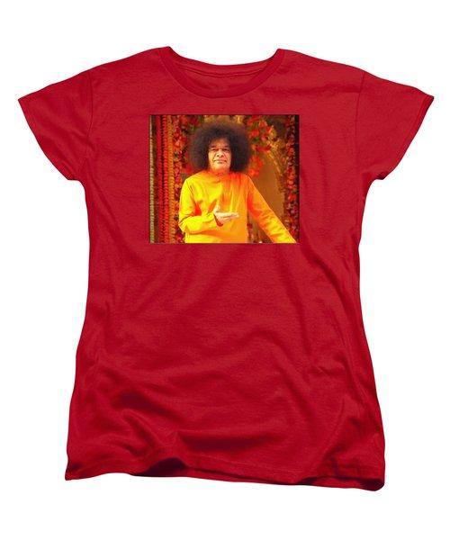 Bhagavan Sri Sathya Sai Baba Women's T-Shirt (Standard Cut) by Carlos Avila