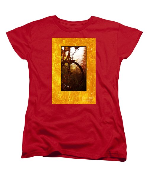Women's T-Shirt (Standard Cut) featuring the photograph Bicycle  by Randi Grace Nilsberg