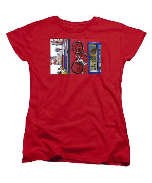 Women's T-Shirt (Standard Cut) featuring the photograph Bike Shop by Fiona Kennard