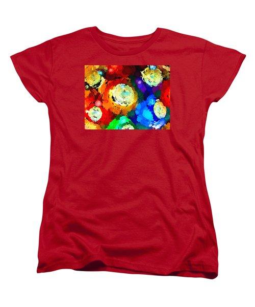 Billiard Balls Abstract Digital Art Women's T-Shirt (Standard Cut) by Vizual Studio
