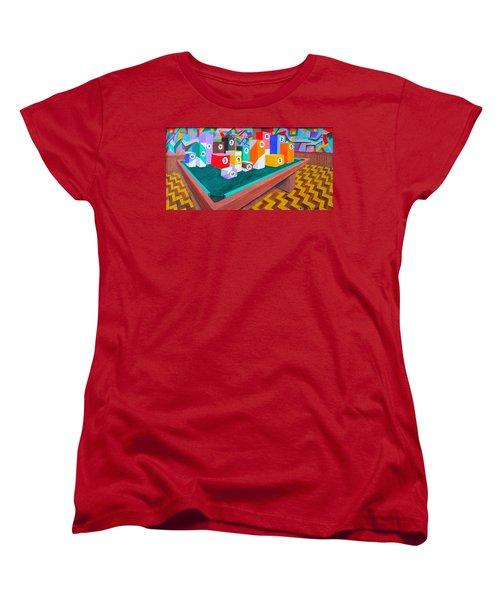 Billiard Table Women's T-Shirt (Standard Cut) by Lorna Maza