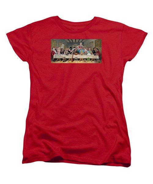 Bills Last Supper Women's T-Shirt (Standard Cut) by Tom Carlton