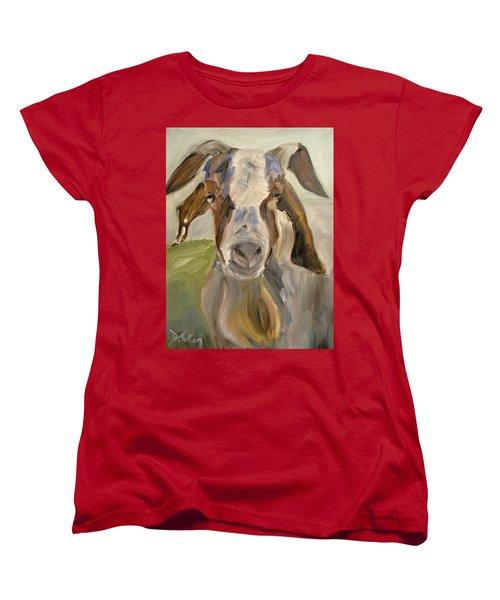 Women's T-Shirt (Standard Cut) featuring the painting Billy by Donna Tuten