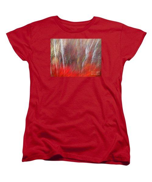 Birch Trees Abstract Women's T-Shirt (Standard Cut)