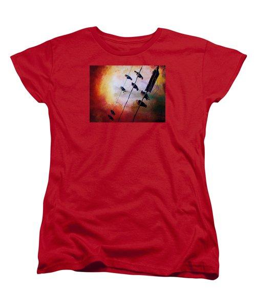 Birds On A Wire Women's T-Shirt (Standard Cut)