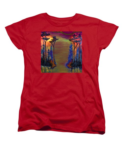 Women's T-Shirt (Standard Cut) featuring the painting Blood Roots by David Mckinney