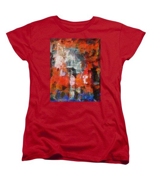 Women's T-Shirt (Standard Cut) featuring the digital art Blows Away In The Wind by Joe Misrasi
