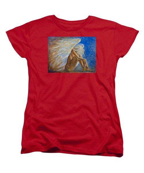 Blu Angel Women's T-Shirt (Standard Cut) by Nik Helbig