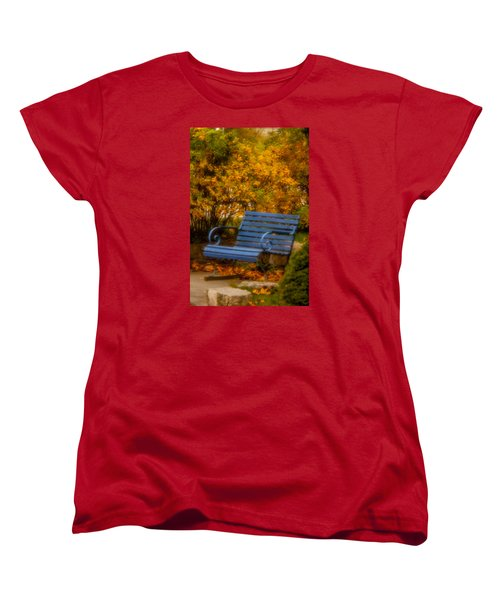 Blue Bench - Autumn - Deer Isle - Maine Women's T-Shirt (Standard Cut)
