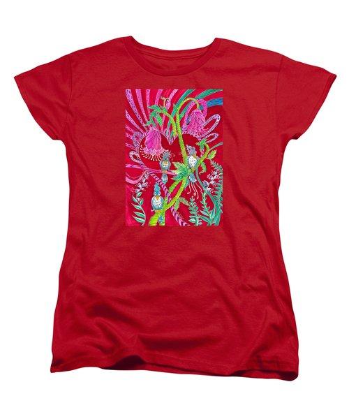 Blue Bird Trio And Heart Women's T-Shirt (Standard Cut) by Adria Trail