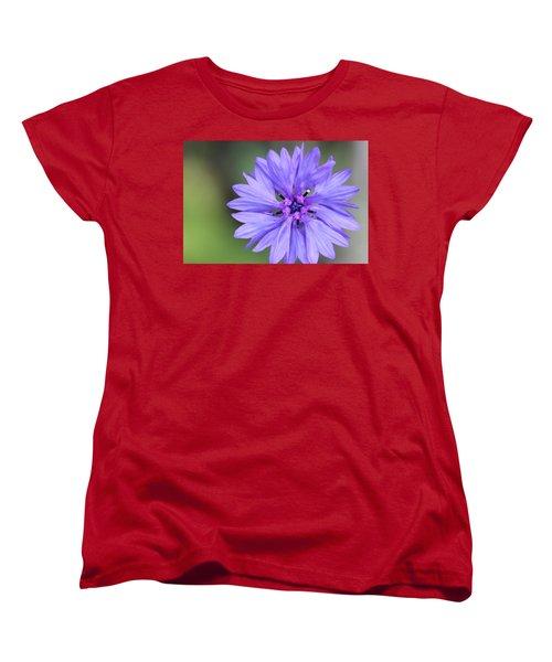 Blue Button Women's T-Shirt (Standard Cut) by Ruth Kamenev