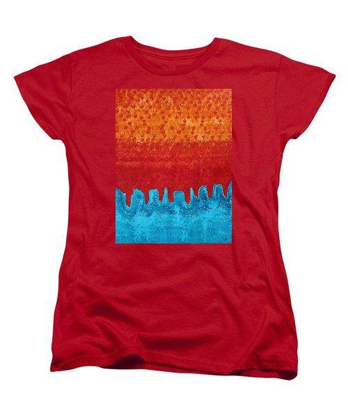 Blue Canyon Original Painting Women's T-Shirt (Standard Cut) by Sol Luckman