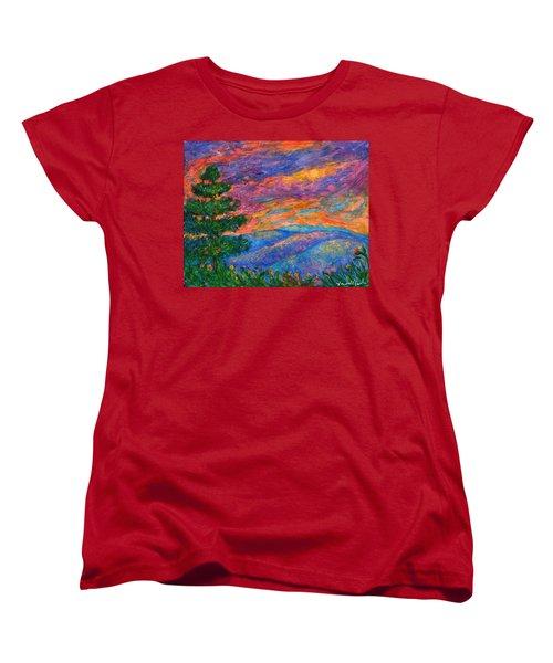 Blue Ridge Jewels Women's T-Shirt (Standard Cut) by Kendall Kessler