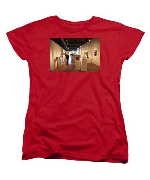Blue Spiral Gallery In Asheville Women's T-Shirt (Standard Cut) by Melinda Fawver