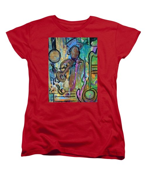 Blues Jazz Club Series Women's T-Shirt (Standard Cut) by Kelly Turner