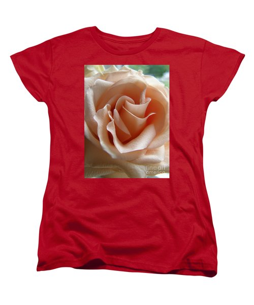 Women's T-Shirt (Standard Cut) featuring the photograph Blushing Rose by Margie Amberge