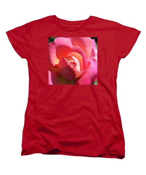 Blushing Rose Women's T-Shirt (Standard Cut) by Michele Myers