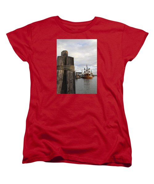 Women's T-Shirt (Standard Cut) featuring the photograph View From The Pilings by Suzy Piatt
