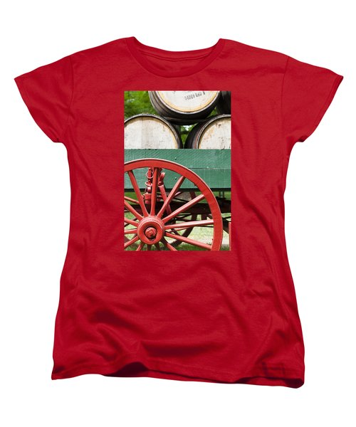 Bourbon Wagon Women's T-Shirt (Standard Cut) by Alexey Stiop