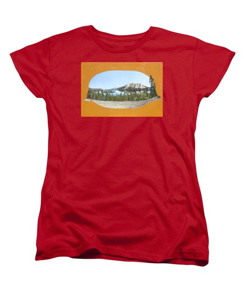 Women's T-Shirt (Standard Cut) featuring the painting Bove Island Alaska by Wendy Shoults