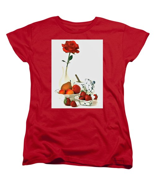 Women's T-Shirt (Standard Cut) featuring the photograph Breakfast For Lovers by Elf Evans