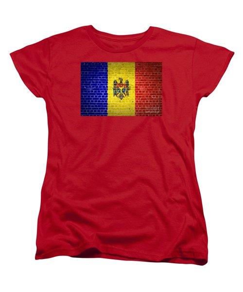 Brick Wall Moldova Women's T-Shirt (Standard Cut) by Antony McAulay
