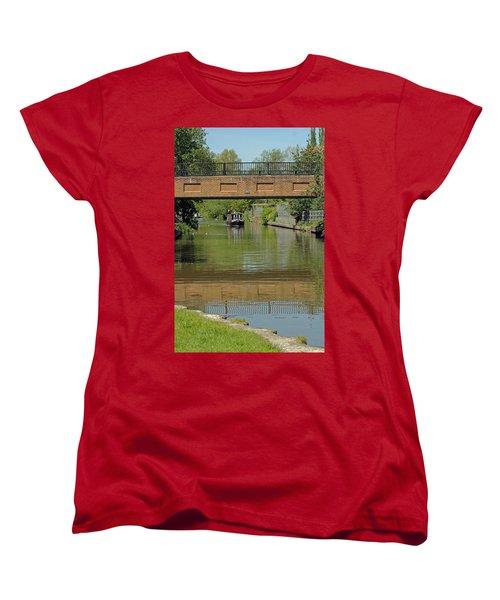 Bridge 238b Oxford Canal Women's T-Shirt (Standard Cut) by Tony Murtagh