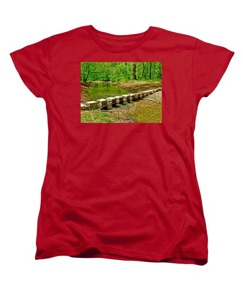 Bridge Across Colbert Creek At Mile 330 Of Natchez Trace Parkway-alabama Women's T-Shirt (Standard Cut) by Ruth Hager