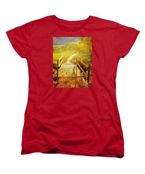 Bridge Into Autumn Women's T-Shirt (Standard Cut) by Janette Boyd