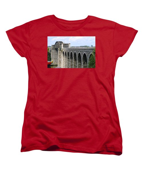 Bridging The Boyne Women's T-Shirt (Standard Cut) by Charlie and Norma Brock