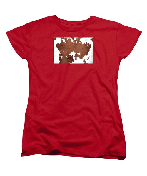 Brown Cowhide Women's T-Shirt (Standard Cut) by Gunter Nezhoda