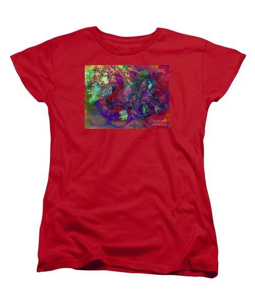 Brushing Circles  Women's T-Shirt (Standard Cut) by Meghan at FireBonnet Art