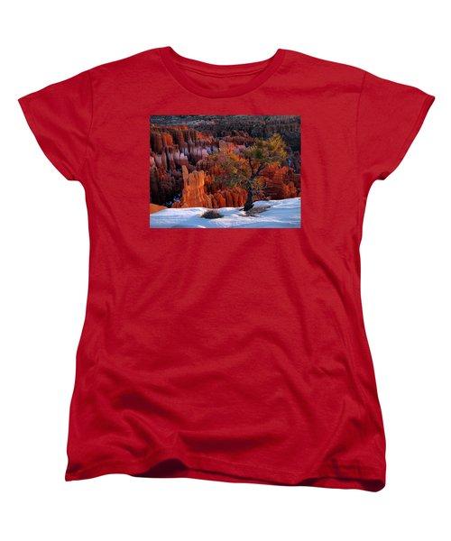 Bryce Canyon Winter Light Women's T-Shirt (Standard Cut) by Leland D Howard