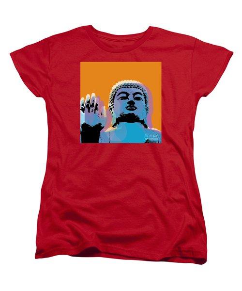 Buddha Pop Art - Warhol Style Women's T-Shirt (Standard Cut) by Jean luc Comperat