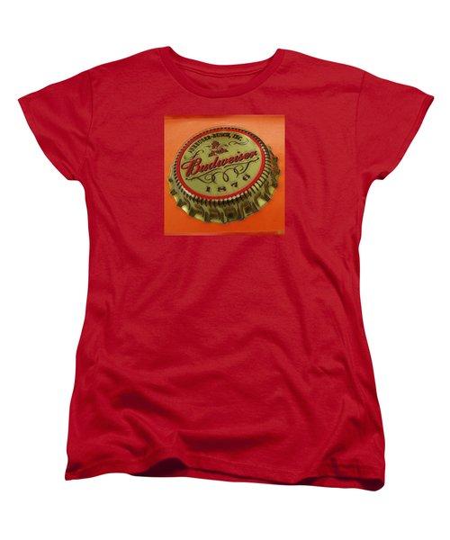 Budweiser Cap Women's T-Shirt (Standard Cut) by Tony Rubino