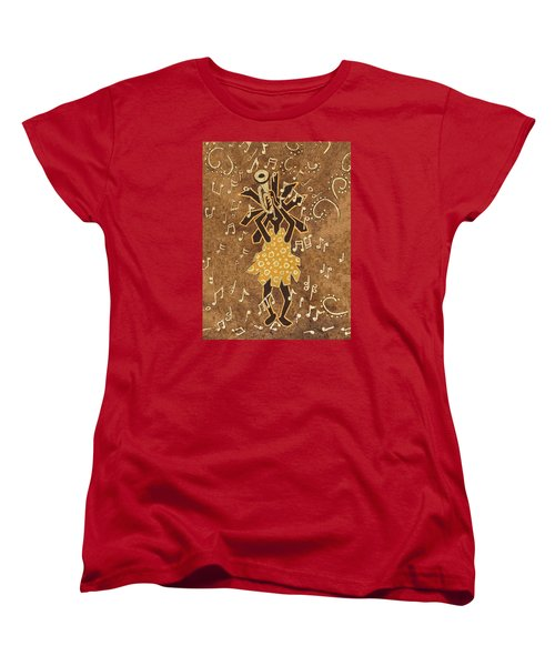Bugle Player Women's T-Shirt (Standard Cut) by Katherine Young-Beck